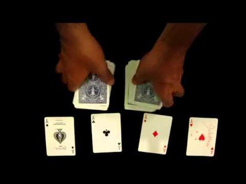 Hướng dẫn ảo thuật đơn giản với 4 con ách
