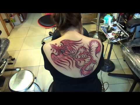 Hình xăm chim phượng hoàng,bird tattoos,HoangAnh TATTOO Cần Thơ