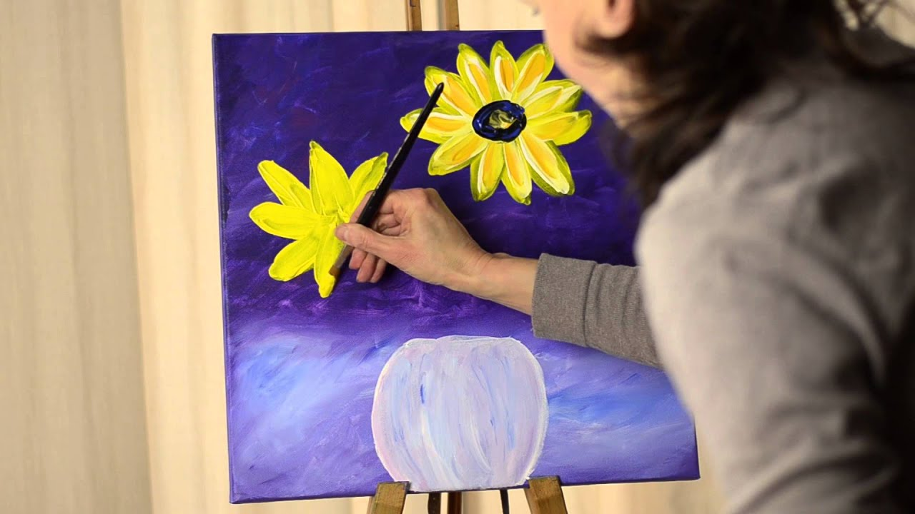 Tanja bell painting flowers lesson step by step tutorial for Step by step painting tutorial