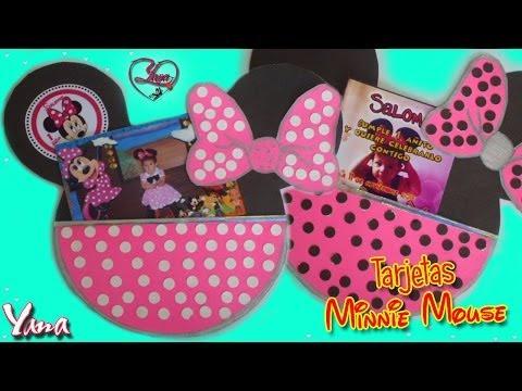 Tarjetas de Invitación Fiesta de Minnie Mouse 1 año - Yanacol