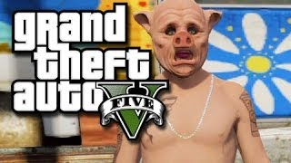 GTA 5 Online Random Moments - Lucky Landing! (GTA V Funny Moments!)