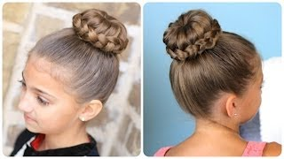 Lace Braided Bun   Updo Hairstyles
