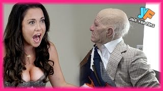 OLD MAN SCARES HOT GIRLS PRANK!