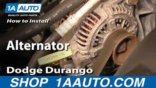 How To Install Replace Alternator Dodge Durango Dakota 98