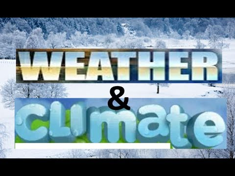 Difference in Weather & Climate -Explanation & Activities -Science for Kids