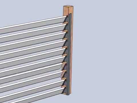 Kit de fixation pour Claustras - palissade bois