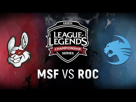 MSF vs. ROC - Week 9 Day 1 | EU LCS Spring Split |  Misfits Gaming vs. Team Roccat (2018)