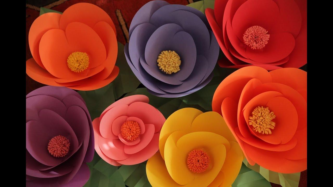 Robert S Giant Paper Flowers Youtube