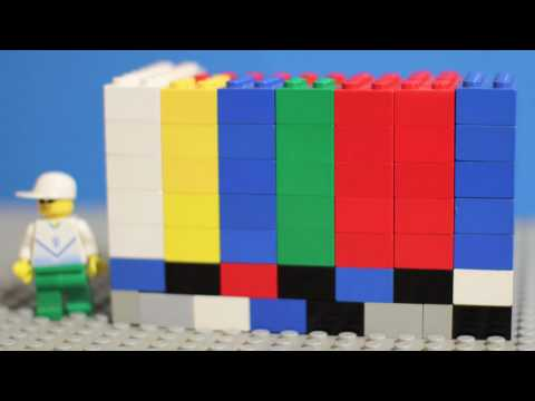 LEGO Colorbars with 1khz tone 60 sec.