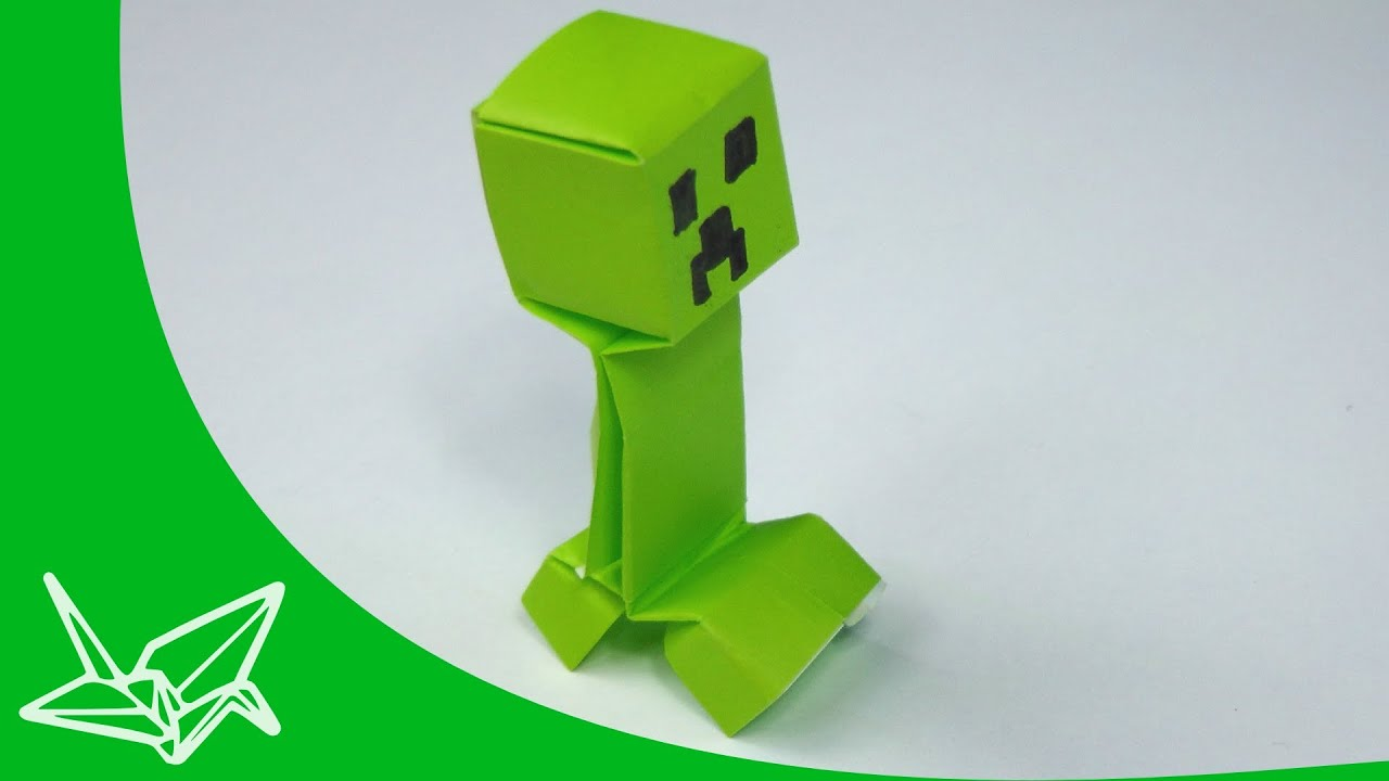 minecraft creeper origami youtube