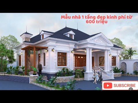 Nhà 1 tầng, nhà vườn 1 tầng đẹp, mẫu nhà 1 tầng đẹp