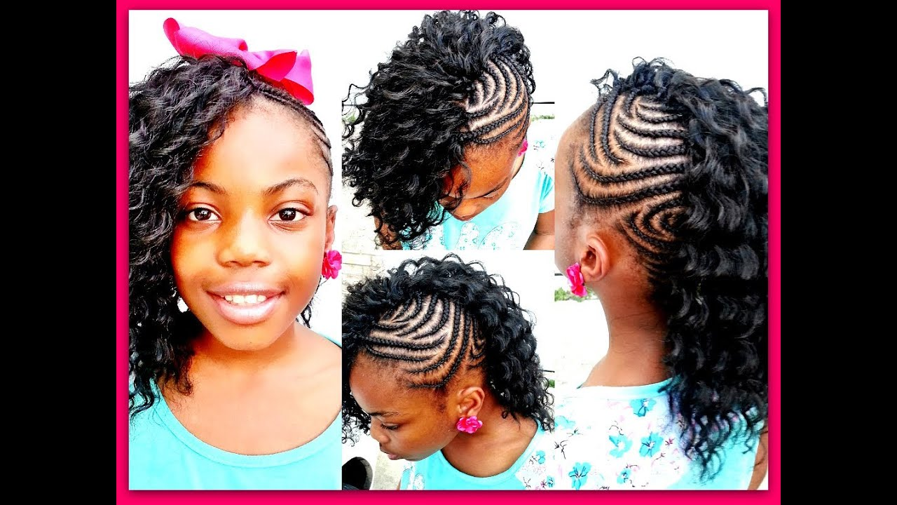 Crochet Braids with Side Mohawk for Kids
