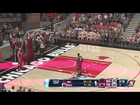 NBA 2K14 Miami Heat 2013-2014 Vs Chicago Bulls 1995-1996 Xbox One Gameplay Online