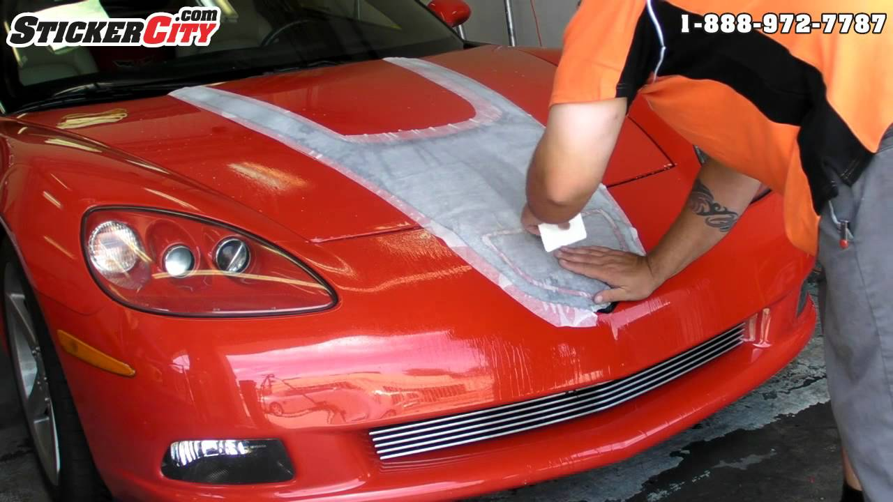 Chevy Corvette Decal 3d Carbon Fiber Stripe Youtube