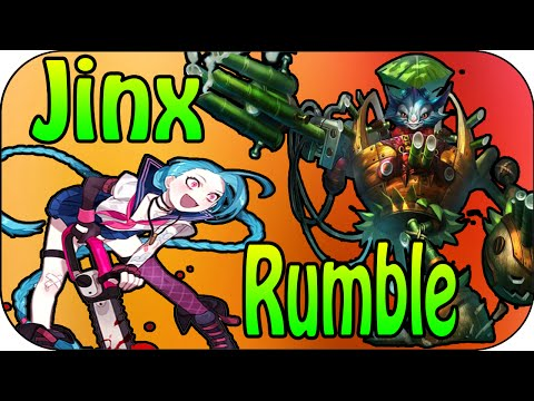 Lets Play League of Legends Jinx ADC + Rumble SUP