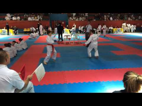João Pedro Lasquevite na Copa Paraíso de Karate