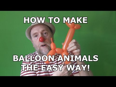 how to make balloon animals youtube