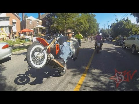 PIT BIKE Stunts DUDE DATE 2014 Street Ride Louisville, KY CRF50 Tricks 50 STUNT Mini Moto Wheelies