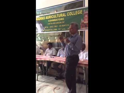 Agri Graduates Meet at Courtallam