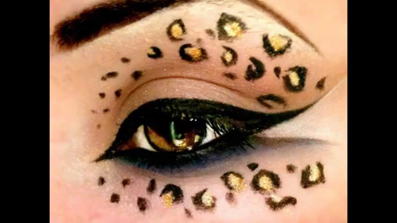 leopard print make up tutorial halloween youtube. Black Bedroom Furniture Sets. Home Design Ideas