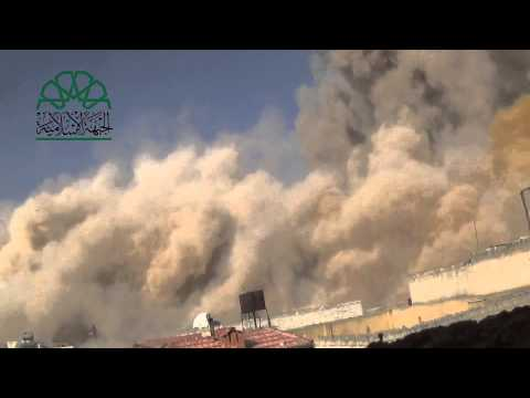 Aleppo- Islamic Front blew up a regime core center19-2-2014