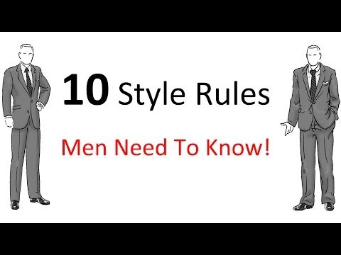 10 Style Rules Every Man Should Know | Men's Fashion Guidelines To Follow | Style Rules For Men