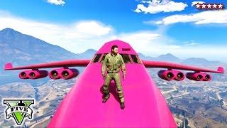 GTA 5 PINK CARGO PLANE!!! GTA Extreme Jet Stunts Cargo