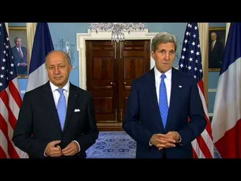 Secretary Kerry Delivers Remarks With French Foreign Minister Fabius