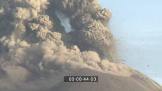 Anak Krakatau Explosive Eruptions - Close Up and Wide Angle Stock Footage HD 1920x1080