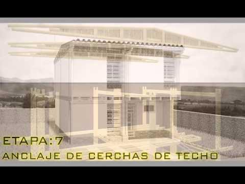 PROCESO DE ARMADO DE SISTEMA CONSTRUCTIVO PREFABRICADO EN GUADUA