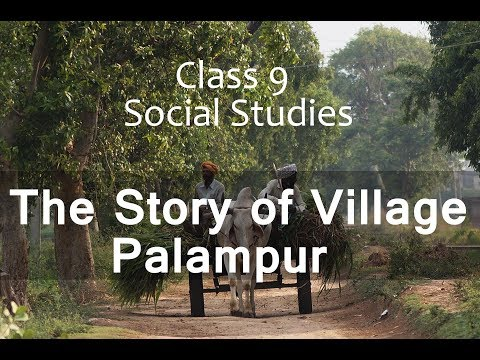Class IX SocialScience Economics (The Story Of Village Palampur)