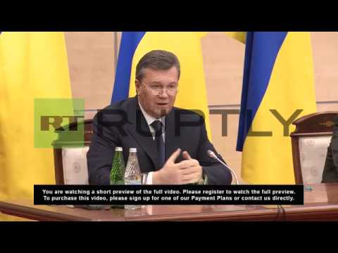 Russia: Yanukovych says he left Ukraine for safety from