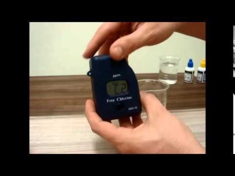 Fotômetro de Bolso para Cloro Livre - MW10