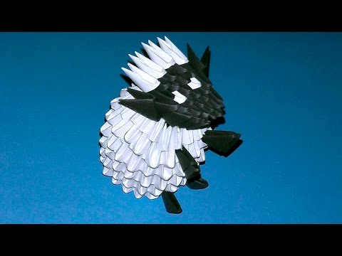 Модульное оригами овечка