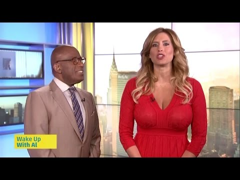 Stephanie Abrams - busty with hot cleavage in red dress - 6-25-14 ...
