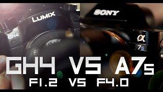 Panasonic Gh4 + Speedbooster vs Sony A7s [Low light test]