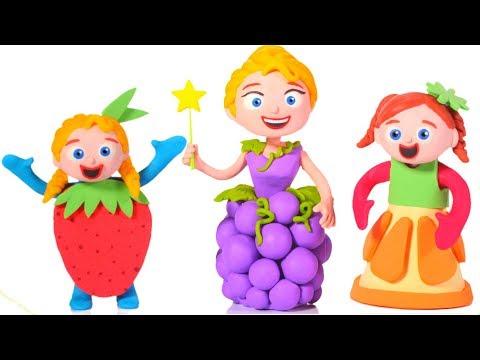 PRINCESSES WEAR FUNNY FRUIT DRESSES ❤ SUPERHERO BABIES PLAY DOH CARTOONS FOR KIDS