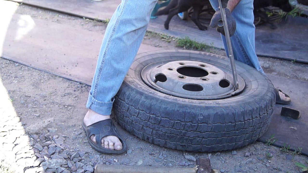 Демонтаж колеса своими руками