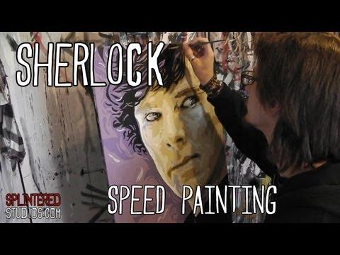 SHERLOCK Speed PAINTING - Benedict Cumberbatch Art - By Stephen Quick