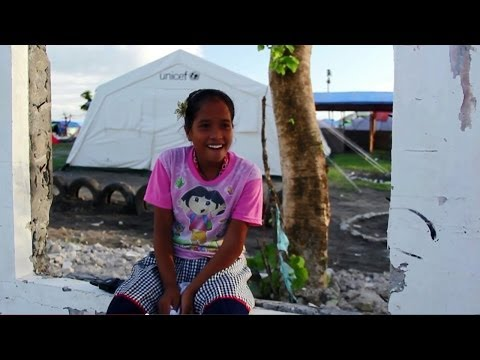 Schools reopen in typhoon damaged areas of the Philippines