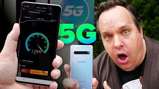 <Speed testing AT&T's 5G network with a Galaxy S10 5G phone - CNET