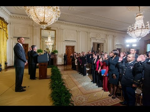 President Obama Speaks at a Naturalization Ceremony -RQLL9Y8Op0E
