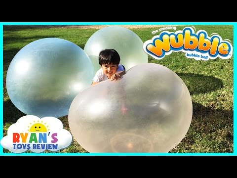 Ryan plays with Giant WUBBLE BUBBLE BALL