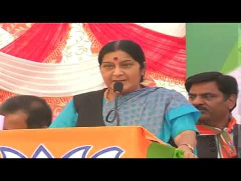 Smt. Sushma Swaraj Public Meeting in Rishikesh, Uttarakhand  30th April 2014