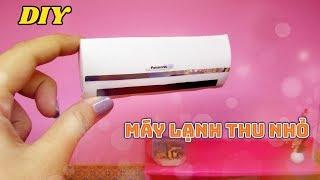 DIY How to make: Doll Air-conditioner / Cách làm máy lạnh thu nhỏ búp bê / Ami DIY