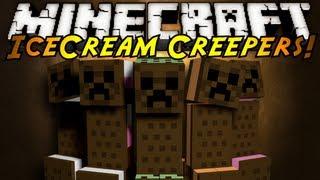 Minecraft Mod Showcase : ICE CREAM CREEPERS!