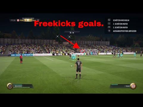 THE BEST FREEKICKS IN FIFA 17 GOALS.