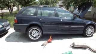 Двигатель BMW M57D25 без выхлопной системы