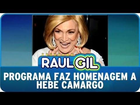 Programa Raul Gil (07/03/15) - Programa faz homenagem à Hebe Camargo