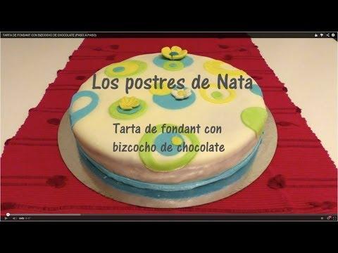 TARTA DE FONDANT CON BIZCOCHO DE CHOCOLATE (PASO A PASO)